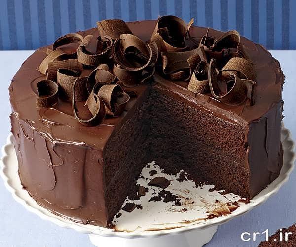 تزیین کیک با شکلات و گاناش