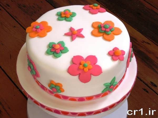 تزیینات جدید کیک تولد با فوندانت