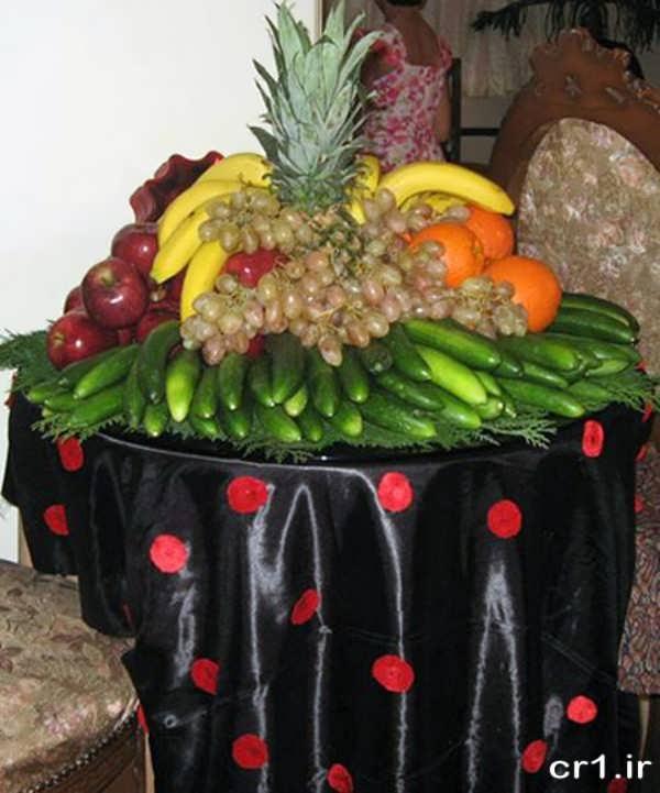 میوه آرایی ساده و زیبا