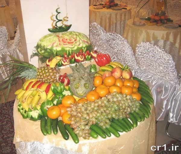 تزیین میوه سفره عقد