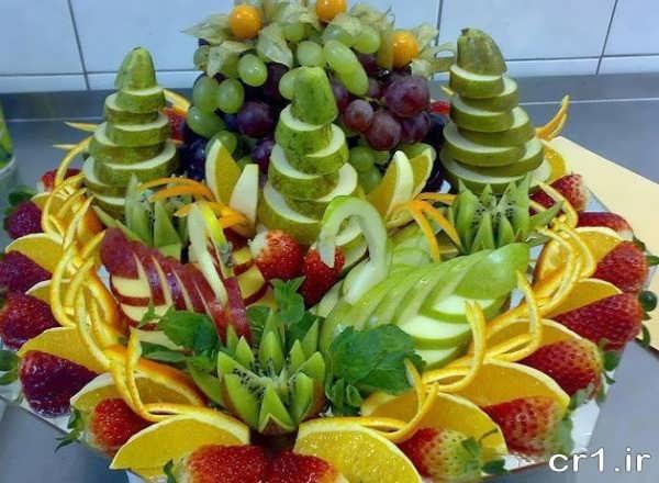 تزیین میوه برای مهمانی های مختلف