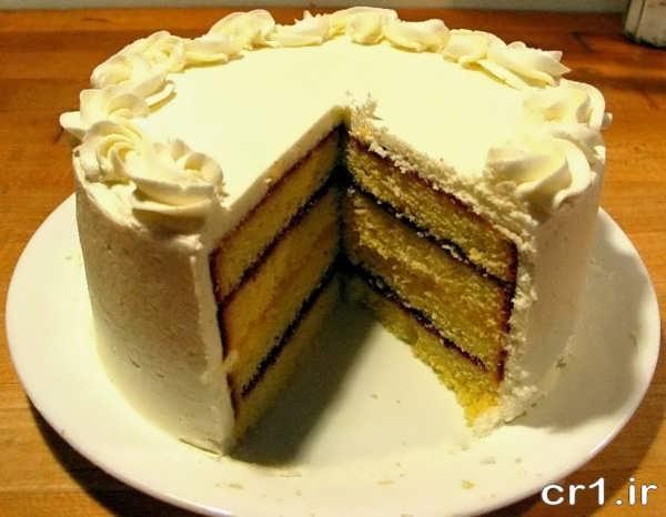 تزیین جالب کیک اسفنجی