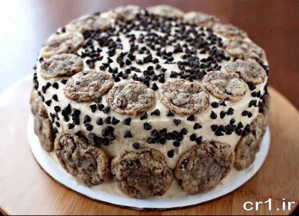 تزیین روی کیک اسفنجی