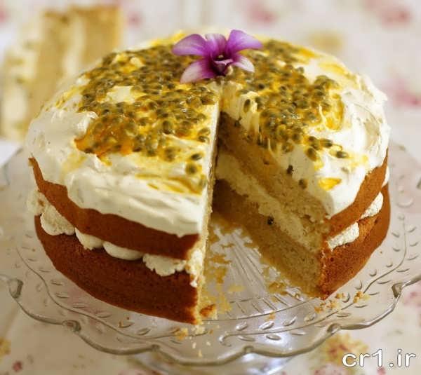 تزیین کیک اسفنجی خانگی