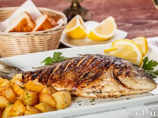 تزیین ماهی شکم پر مجلسی