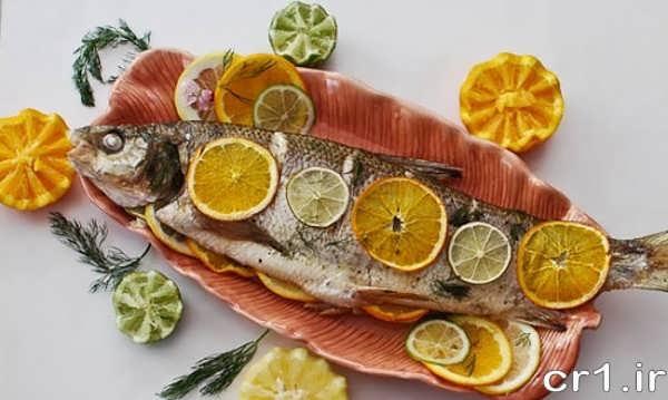 تزیین روی ماهی شکم پر