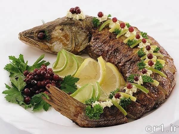 تزیین ماهی برای مهمانی