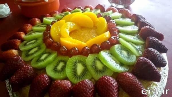 تزیین سالاد میوه های تابستانی