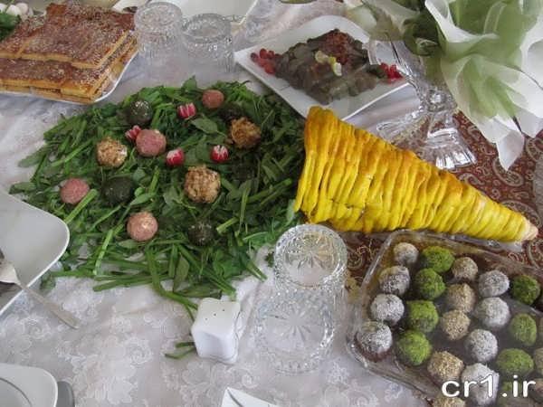 تزیین سبزی خوردن سفره ابوافضل