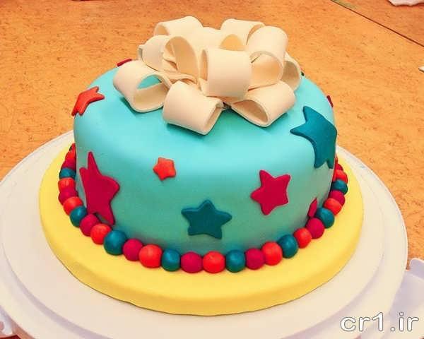 تزیین کیک با فوندانت برای بچه ها