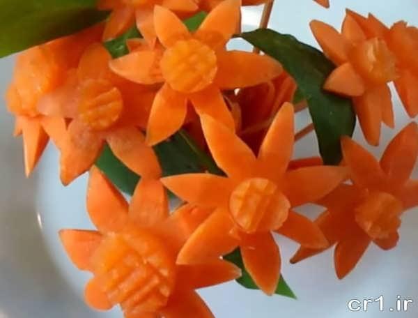 ساخت گل با هویج