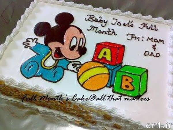 تزیین کیک با ژله و خامه