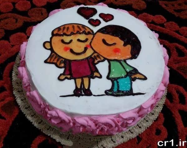 تزیین کیک فانتزی و رمانتیک