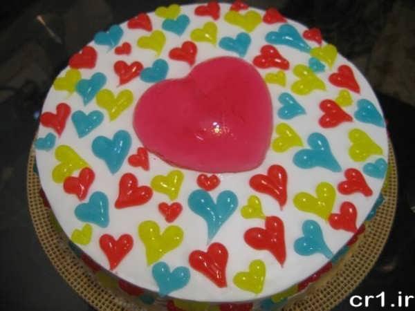 تزیین کیک با خامه و ژله بریلو