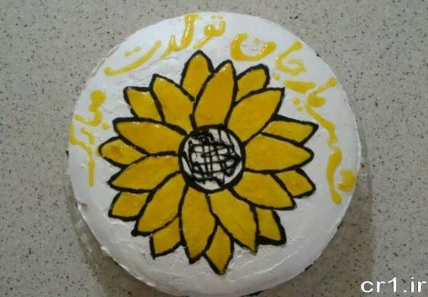 تزیین کیک ساده با ژله