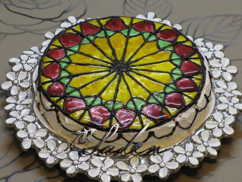 تزیین کیک با ژله بریلو