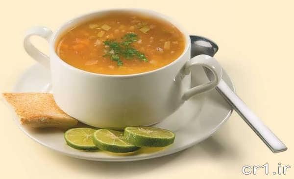 تزیین زیبای سوپ جو