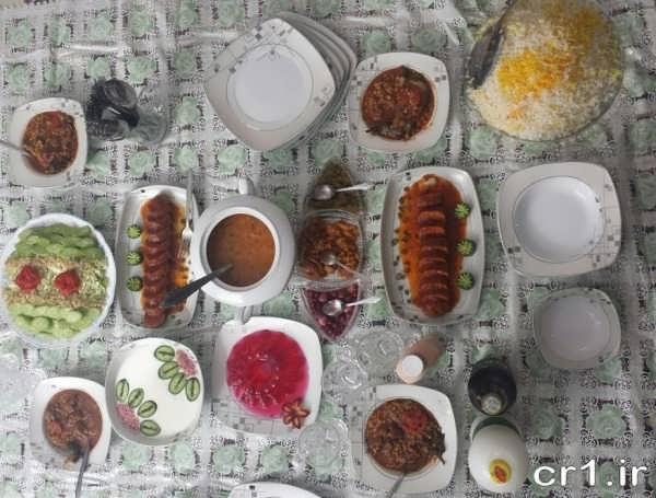 تزیین سقره غذای ایرانی