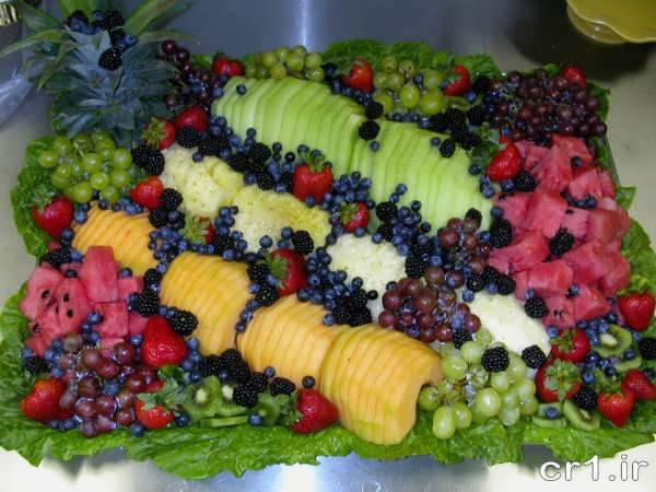 تزیین میوه های زیبا و جالب