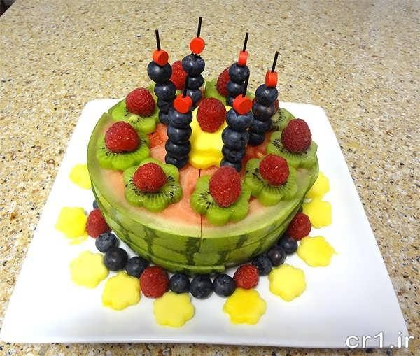 تزیین میوه جشن تولد