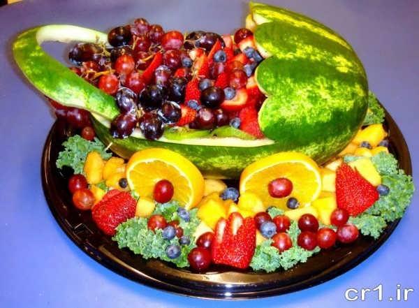 تزیین میوه تولد برای کودکان