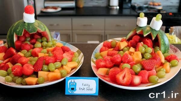 تزیین ظرف میوه برای تولد
