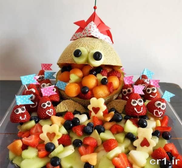 تزیینات میوه برای تولد