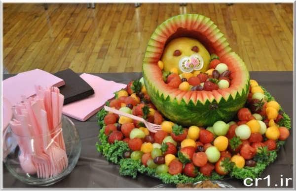 تزیین میوه برای تولد کودکان
