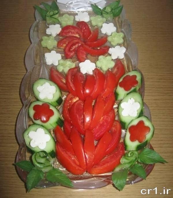 تزیین جدید گوجه و خیار