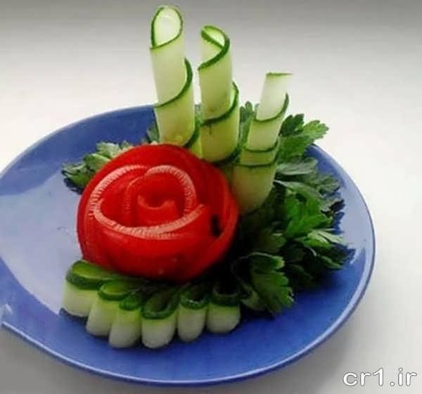 تزیین زیبای گوجه و خیار