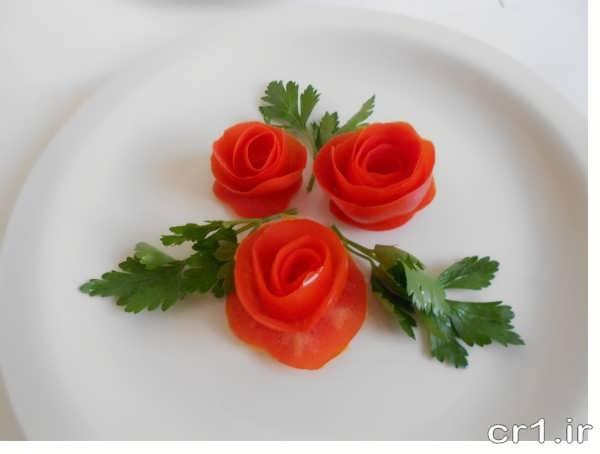 تزیین ساده گوجه