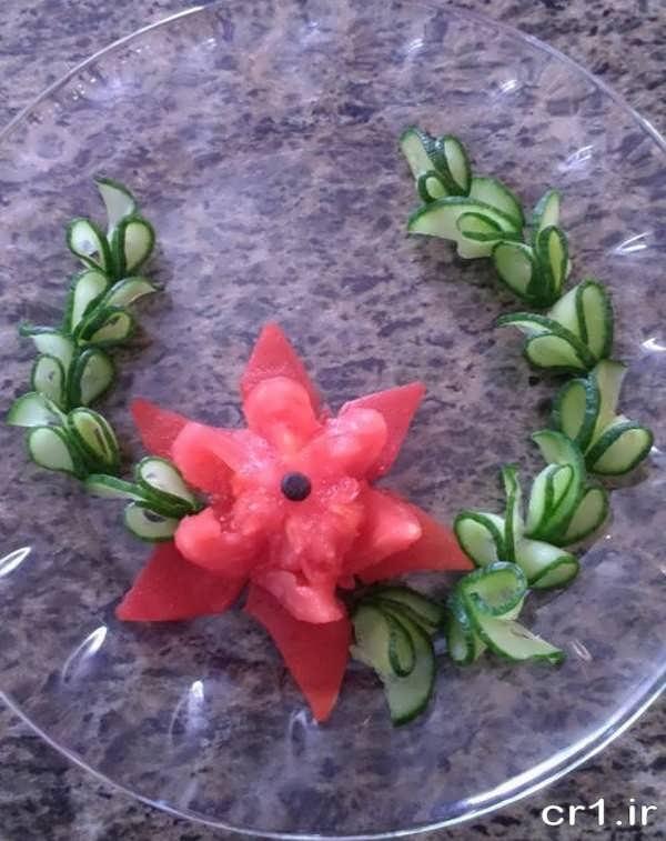 تزیین شیک خیار و گوجه