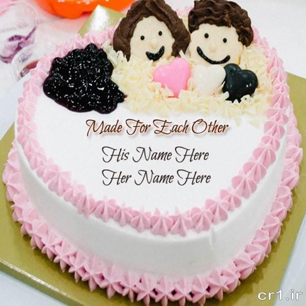 تزیین کیک سالگرد عقد