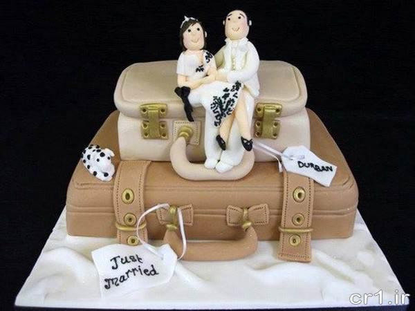 تزیین کیک فانتزی با طرح زن و شوهر