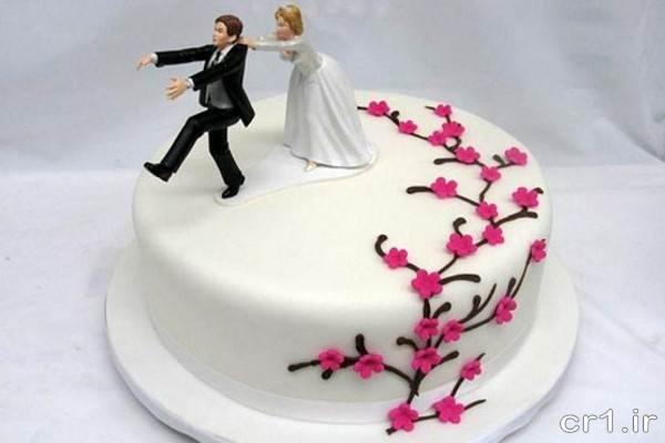 تزیین کیک سالگرد عقد جدید
