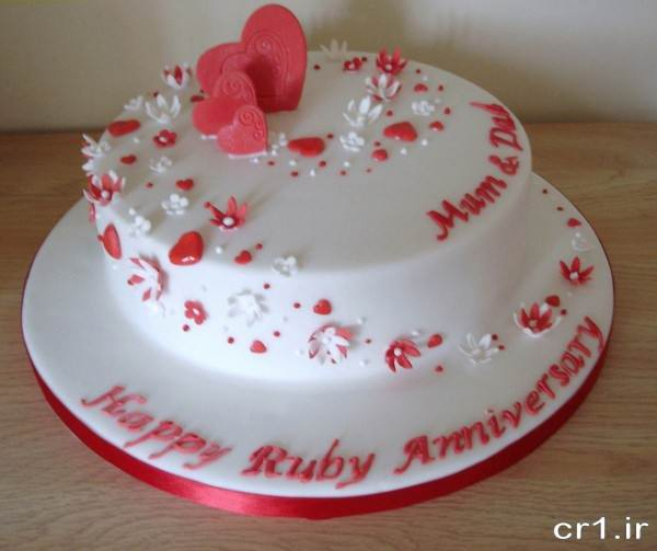 تزیین کیک زیبا برای سالگرد ازدواج