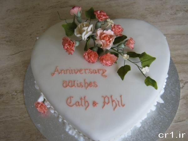 تزیین جدید کیک سالگرد ازدواج