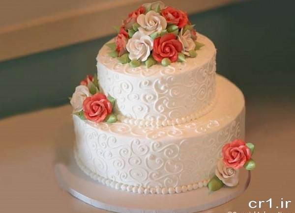 تزیین کیک با خامه برای سالگرد عقد