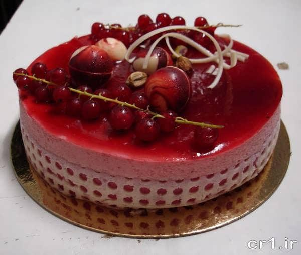 تزیین کیک تولد ساده با ژله