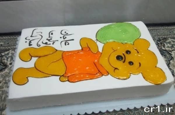 تزیین کیک تولد با ژله بریلو