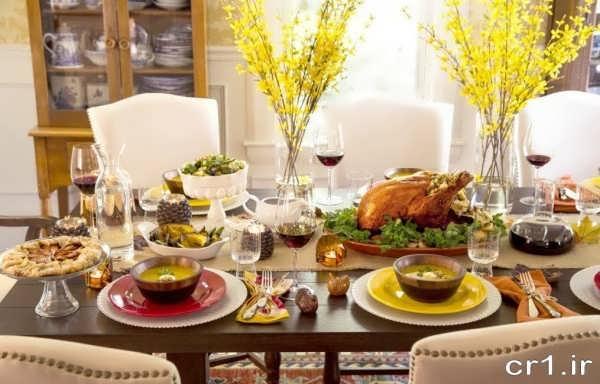 تزیین میز شام جدید و زیبا