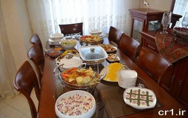 چیدمان میز شام شیک و زیبا