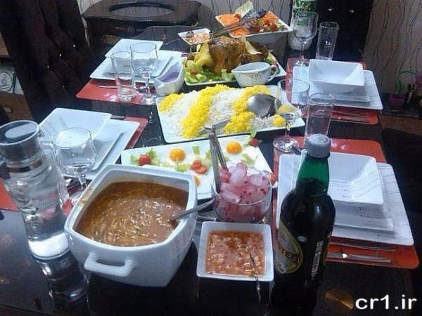 تزیین جدید میز شام