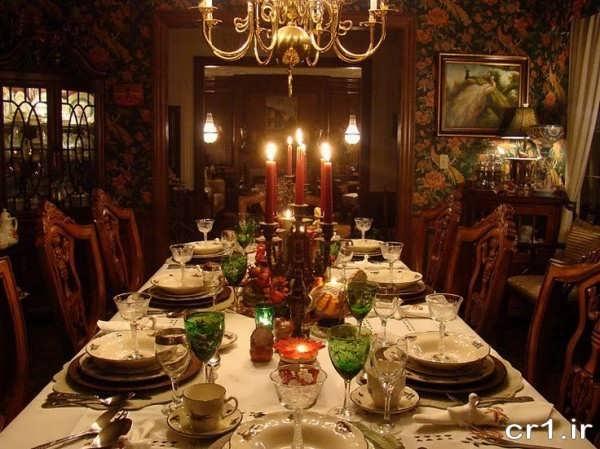 تزیینات میز شام