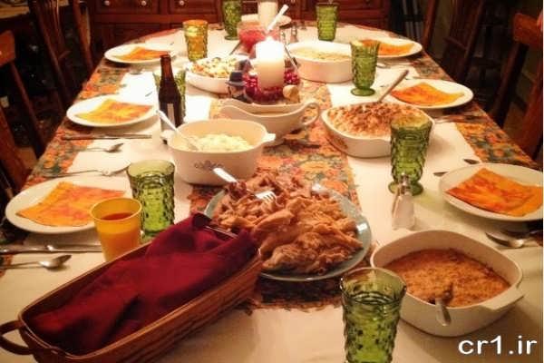 تزیین میز شام برای مهمانی