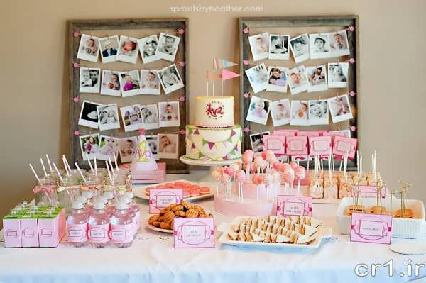 تزیین میز جشن تولد