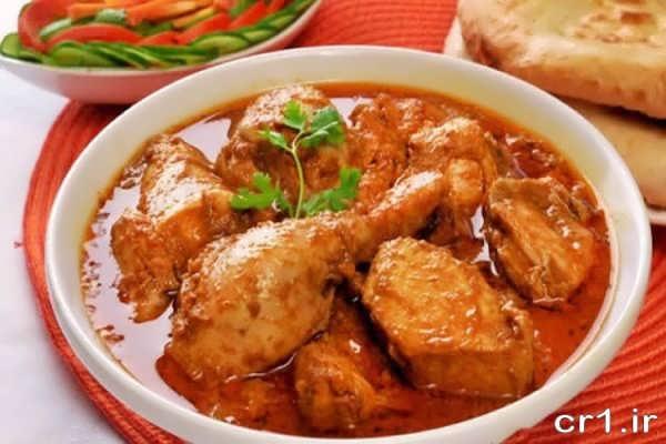 تزیین ساده خورش مرغ
