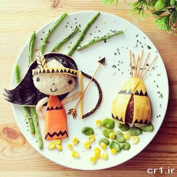 تزیینات زیبای غذای کودک