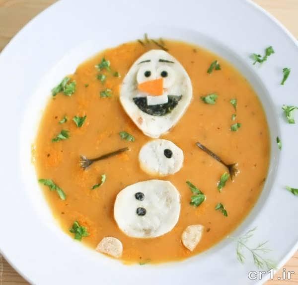 تزیین سوپ برای بچه ها