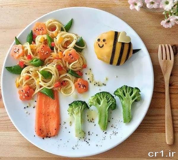 تزیین غذای کودکان